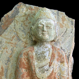 China - Palace Wall Fragment with Standing Buddha Carving from the Lacy Gallery Art of Asia Collection