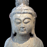 China - Tang Dynasty Buddha Bust from the Lacy Gallery Art of Asia Collection